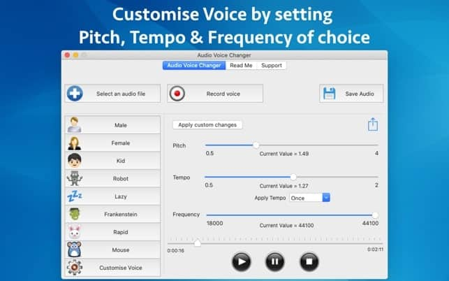 audio voice changer for mac